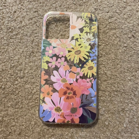 Rifle Paper Co. iPhone 12 Clear Marguerite case
